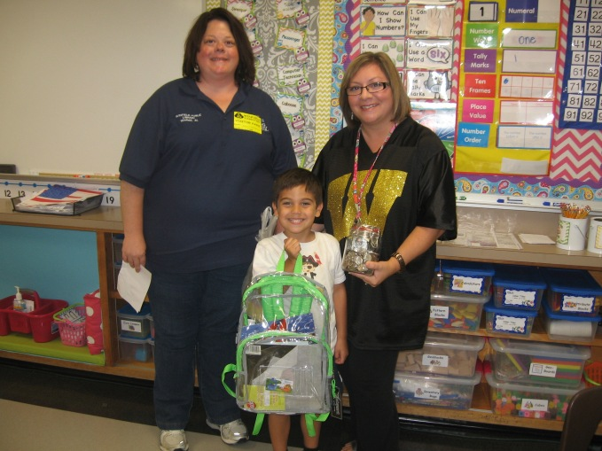 Guess How Many Quarters Winner Dylan Gonzalez, Kindergarten Guess 390 quarters, jar amount 415 – only 25 short Mrs. Dodd received $103.75 to help her purchase supplies needed for her class