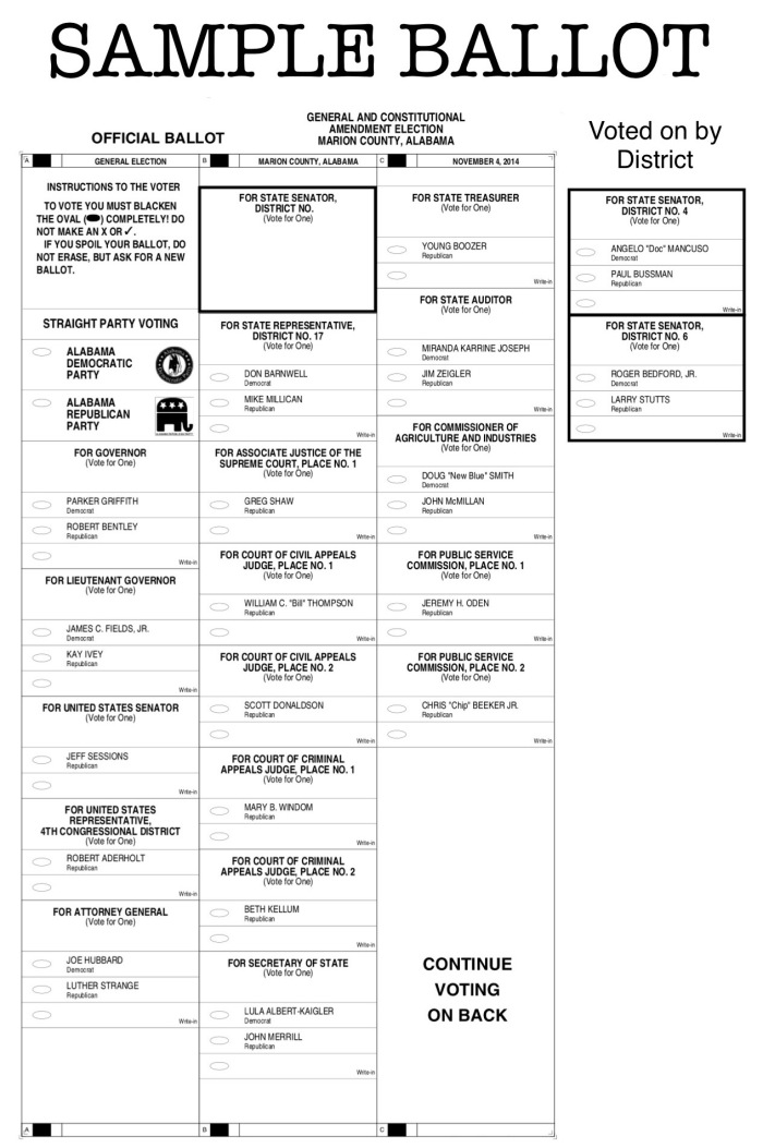 11/02/2014 – Tuesday's General Election Sample Ballot for Marion County | 49 County News.Net