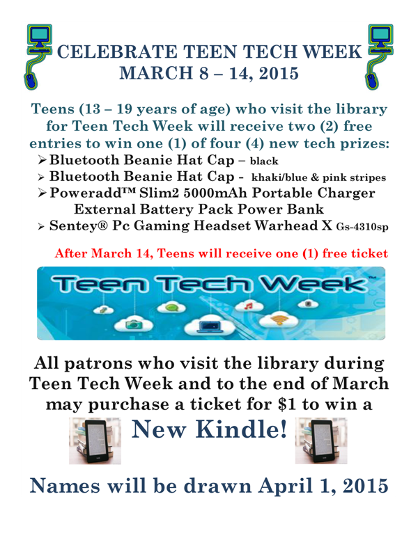 PRIZES FOR TEEN TECH WEEK